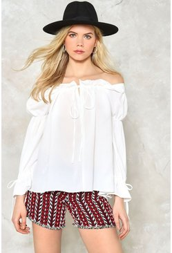 Hang in There Off-the-Shoulder Top