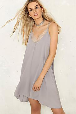 Daisy Eyelash Lace Slip Dress