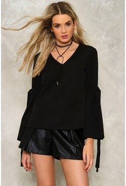 Corey Ruffle Sleeve Top