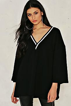 Erin Wide Sleeve Rib Trim Jumper