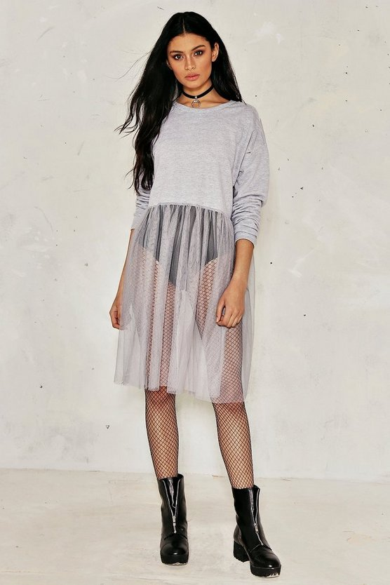 Tulle For the Summer Distressed Dress