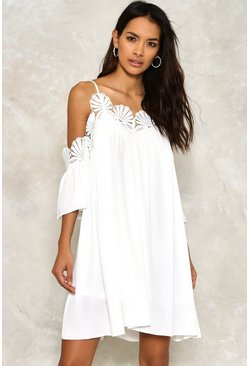 Real Mermaid Cold Shoulder Dress