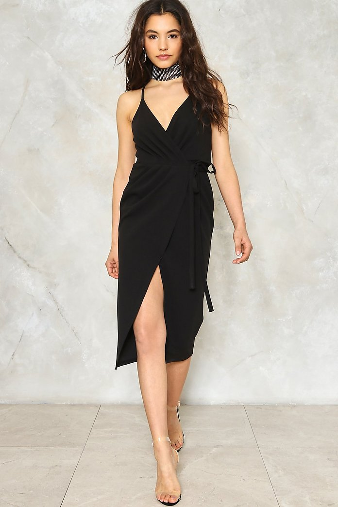 Split Ways Wrap Dress