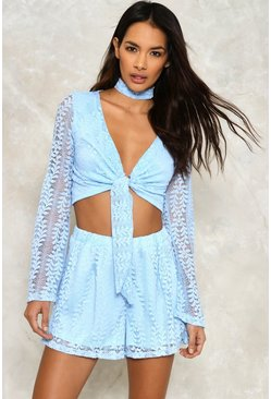 Love Me Lace Top and Shorts Set