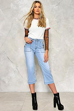 Willow Button Detail Denim Culotte