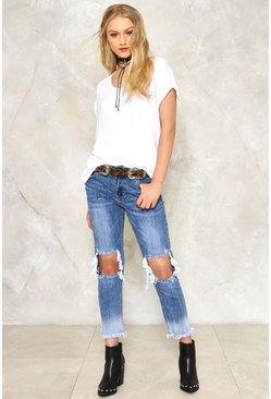 Crop The Madness Distressed Jeans