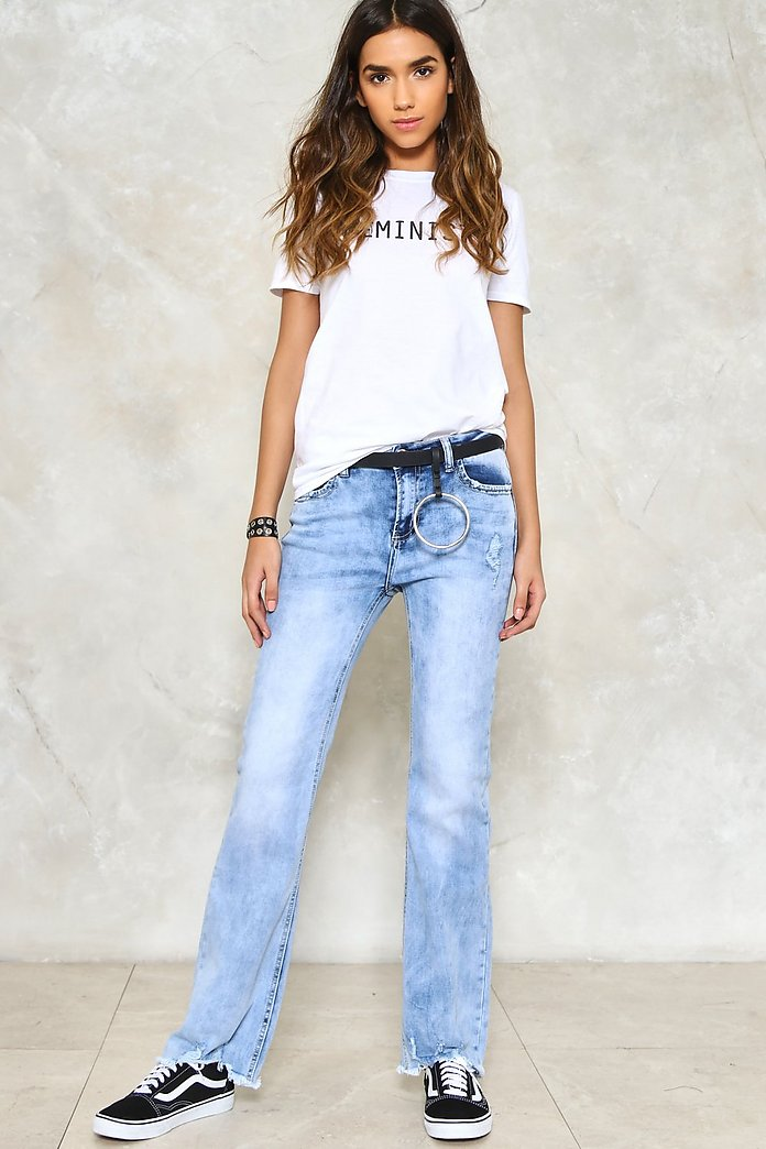 Get Faded Raw Hem Jeans