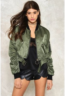 Buckle Detail D Ring Bomber