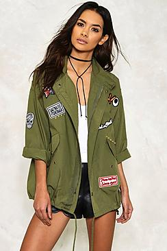 Evie Embroidered Badged Parka