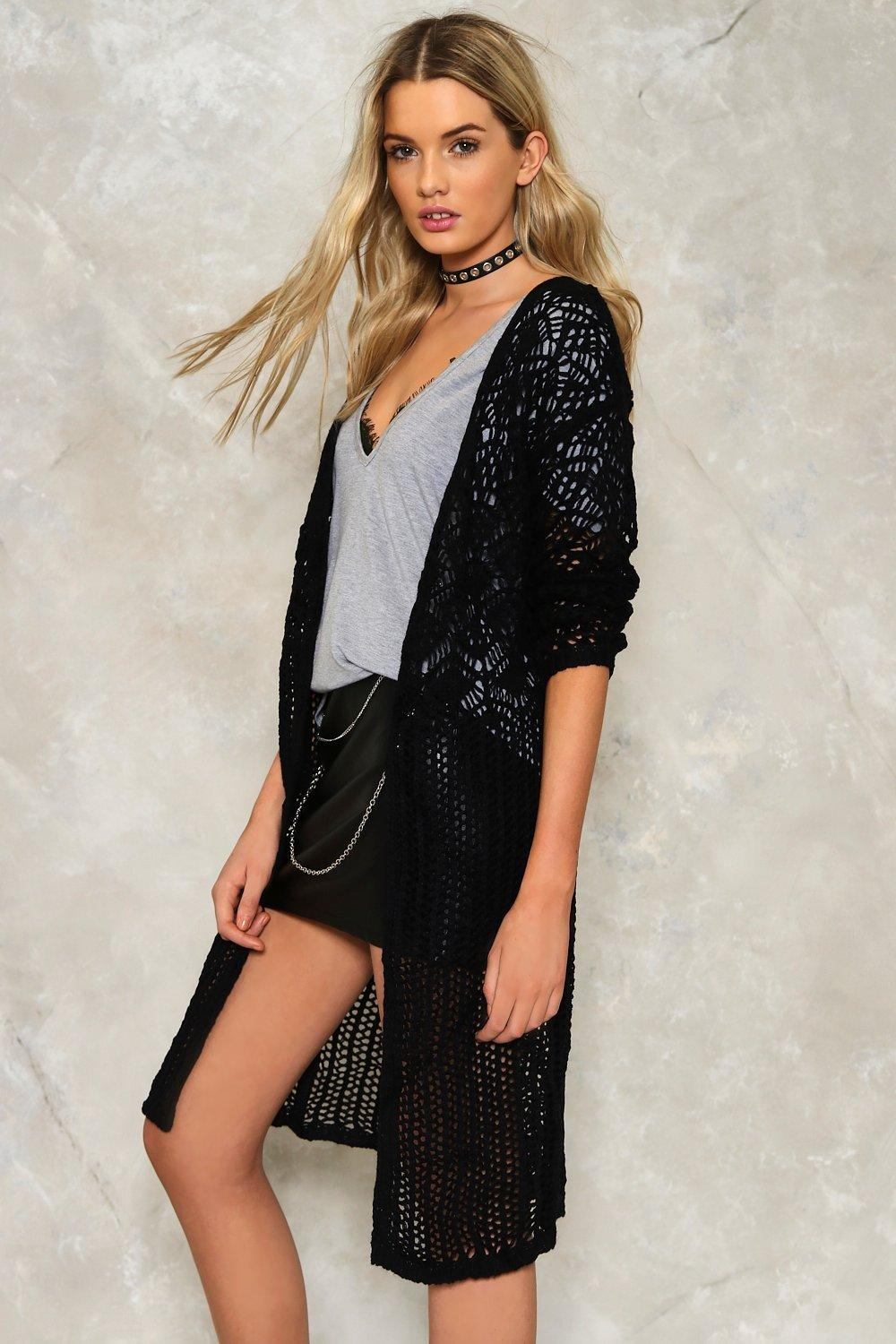 Alice Crochet Maxi Cardigan | Shop Clothes at Nasty Gal!