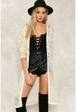 Alice Crochet Maxi Cardigan