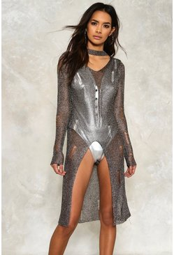 Shine On 'Em Metallic Dress