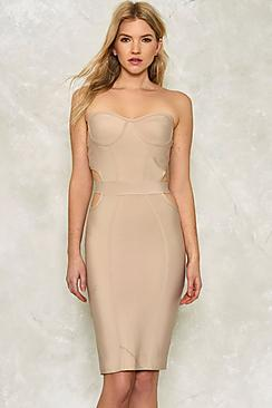 Eva Cut Out Bodice Bandage Bodycon Dress