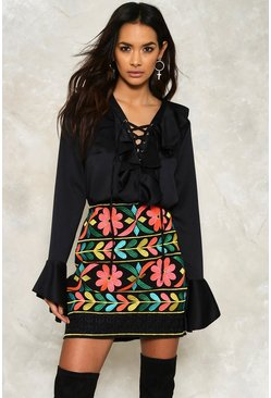 Mena Embroidered Mini Skirt