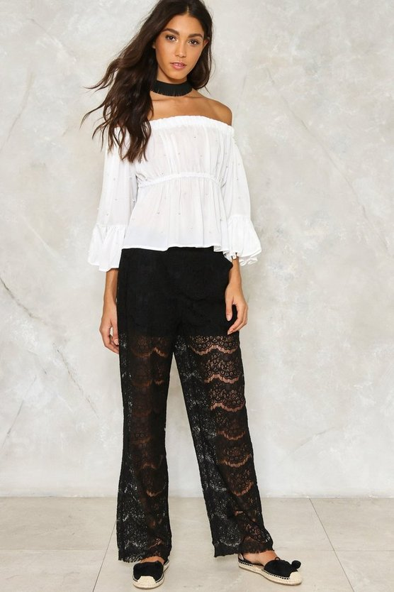 Lace of Base Relaxed Pants