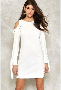 Sophia Ruffle Off-the-Shoulder Dress