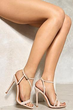 Cross Strap Barely There Heels