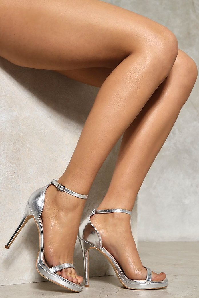 Disco Inferno Metallic Heel