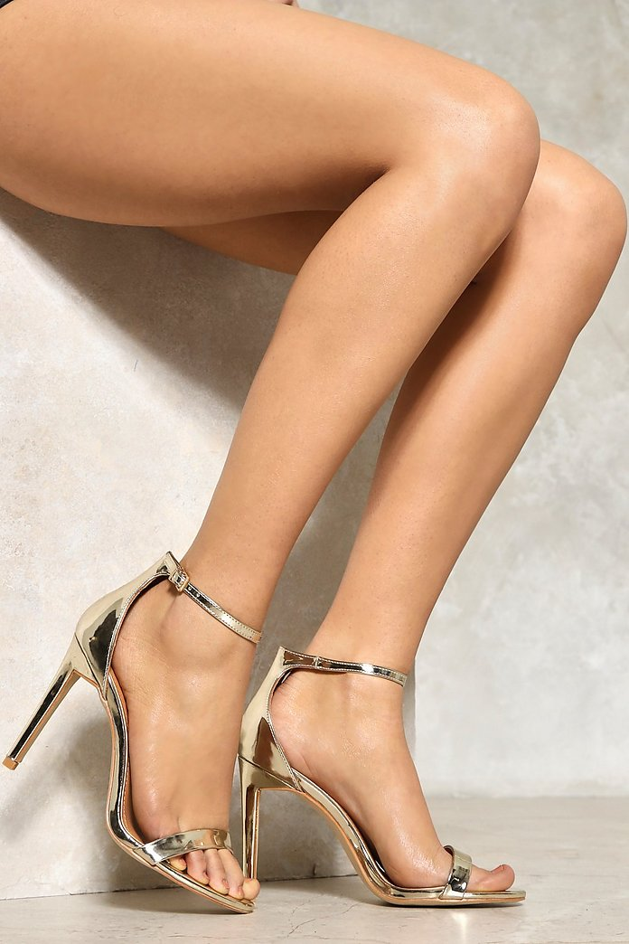 Light Me Up Metallic Heel