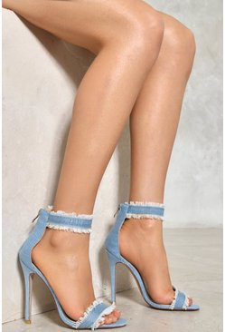 A Fray to Remember Denim Heel