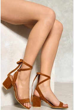 Block Head Strappy Heel