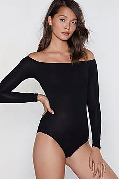 Basic Bardot Bodysuit