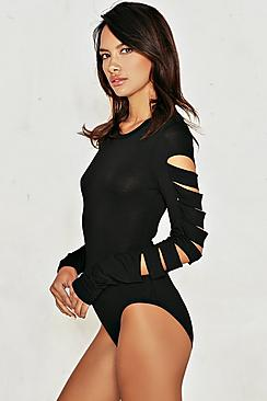 Slash Sleeve Bodysuit