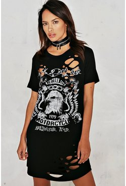 Trouble Maker Distressed Dress