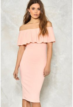 Frilled to Pieces Off-the-Shoulder Dress