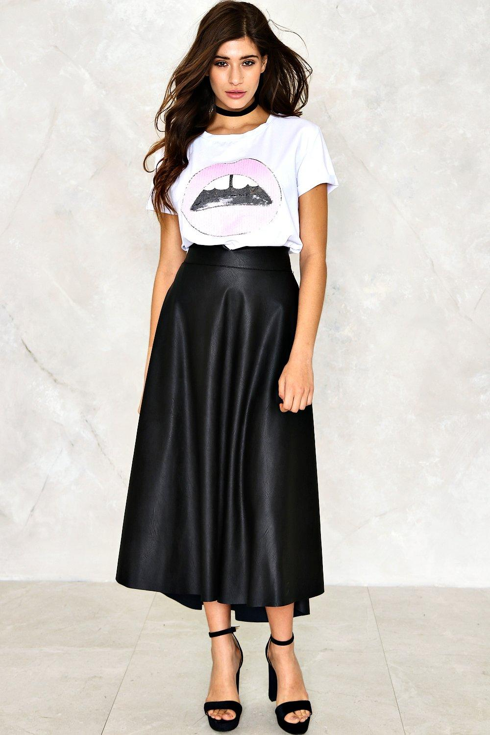 Bella Vegan Leather Skirt | Shop Clothes at Nasty Gal!