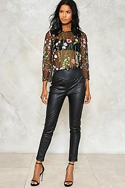 Aria Faux Leather Look Trouser