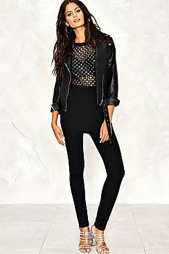 Georgia Lattice Sequin Halterneck Jumpsuit