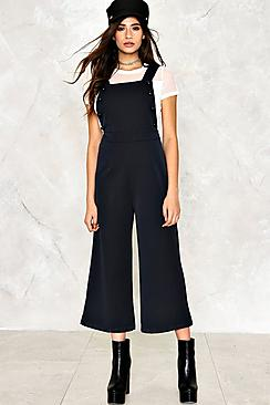 Button Detail Tailored Dungaree