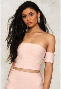 Lo Off-the-Shoulder Crop Top
