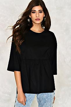 Aria Oversized Cotton Smock T-Shirt