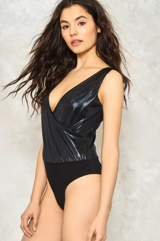 Poppy Metallic Bodysuit