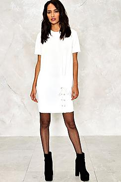 Nala Lace Up Hem Sweat Dress