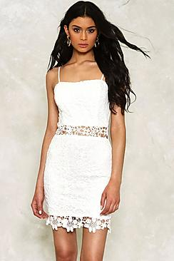 Lauren Crochet Lace Bodycon Dress