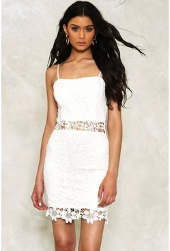 Lauren Crochet Lace Dress