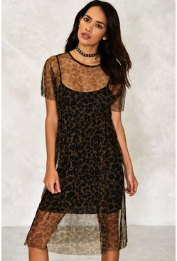 Kiki Leopard Mesh Dress