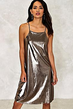 Hollie Metallic Slip Dress