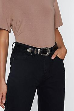 Olivia Single Buckle Western PU Belt