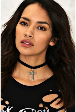 Phoebe Cross Choker