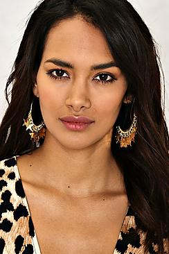 Emilia Star Dangle Hoop Earrings
