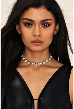 Chunky Diamante Wide Set Choker