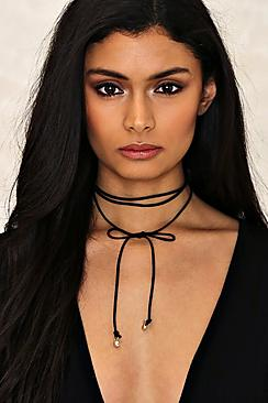 Lauren Multi Band Tie Cord Choker