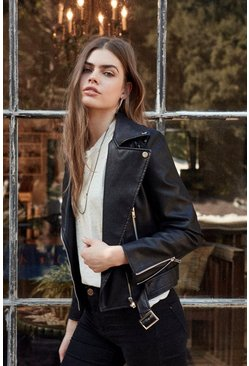 Liz Vegan Leather Moto Jacket