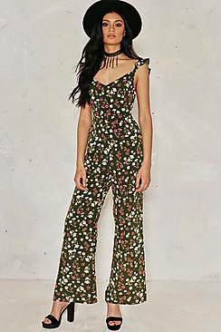 Millie Floral Tie Back Jumpsuit