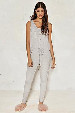 Phoebe Ribbed Pocket Detail Jumpsuit