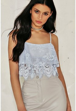 Hayley Lace Crop Top